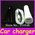 Dual Portable 2.1A/1A Dual USB Car Charger For Apple ipad ipod iphone 4 4S 5 5G 5th+1 year warranty