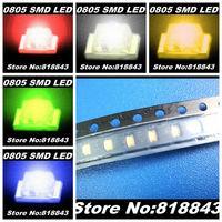 5Values x 3000pcs/ reel=15000pcs New 0805 Ultra Bright Red/Green/Blue/White/Yellow SMD LED Kit
