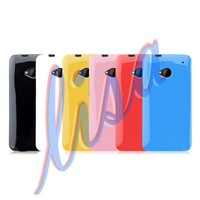 TPU Case For HTC M7 , Pudding Soft TPU Gel Case For HTC One M7 Free Shipping@1