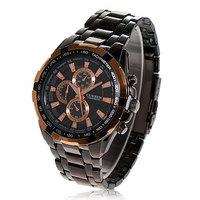 2013 Hot Exquisite Curren swiss watches with  Leisure Black Wristwatches 8023 (Black)