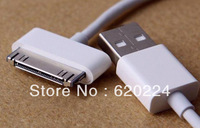 China post office 10pcs/Lot data sync USB cable/data cable/charger cable for phone 4/phone 4S//pod touch/pad+Free shipping