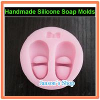 Silicone Cake Mold Fondant Decorating Baby shoes Shape Soap Mold