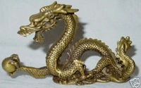 Collectables Lifelike Brass Carving Dragon Statues