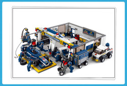 without original box Sluban 0356 F2 Maintenance Station Building Block Set 3D Construction Brick Toys Educational Block toy(China (Mainland))