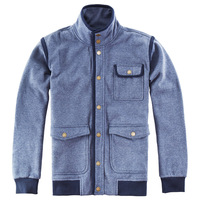 Nop men's clothing autumn new arrival 2012 outerwear color block overlock knitted outerwear