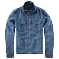 Nop men's clothing spring male jacket linen material short design stand collar jacket