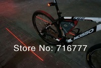 Bicycle Cycling Laser Tail Light  2 Laser + 5 LED novelty Bike Cycle Light led  Safety Light parallel