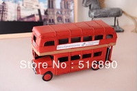 Free shipping!London Street Iron Double-decker Bus Model Handmade Classic Car Memory of old times Gift Home Decoration S size
