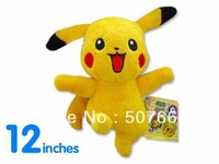 Free shipping Retail 1PCS Japan anime pokemon pikachu plush doll toy nice tag