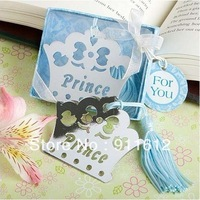 12PCS/LOT Prince Crown Bookmark baby shower favors Free shipping Wedding favors and gifts