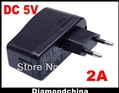 High Qaulity USB EU plug Charger AC 100-240V To DC 5V 2A Power Supply Converter Adapter free shipping(China (Mainland))