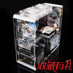 DIY a06 vertical atx computer case transparent acrylic water cooled computer case fashion personality computer empty computer(China (Mainland))