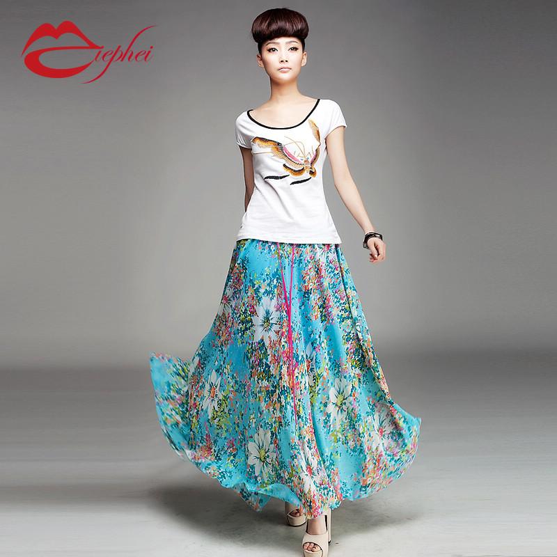 summer skirt dress lon...