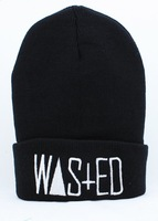 Fashion Hiphop Rum & Koke WASTED Beanie in Black snapbacks cap and hat ,Obey snapbacks,homies beanie Free shipping