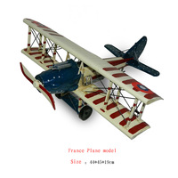 Antique craft france plane model handmade craft home decoration bar coffee house display birthday gift