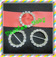 25 mm rhinestone ribbon buckles