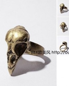 (Min order $10) The new brand city outdoor bird Skull Ring+ Free Shipping!  S1165