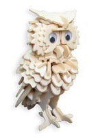 Educational toys wooden play three-dimensional puzzle wooden puzzle wooden model owl