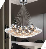 New Glass Pendant Lights with 19pcs*10W G4 Bulbs 6010/19P