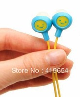 Fruit Smiley Earphone Headphone 12 Colors With Retail Package 100PCS DHL EMS Free Shipping