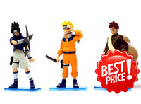 Christmas gift Free shipping ! Naruto  action figure  PVC Anime figure doll  cute toys ( 3 pcs/set +15 cm ) 14229003