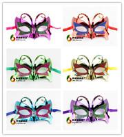 free shipping 6pcs/lot 16g halloween mask Women mask gold dust mask butterfly mask small butterfly mask