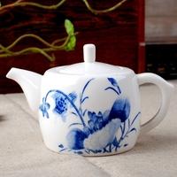 Ceramics blue and white handmade clutch pot kung fu tea