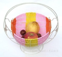 Handmade rattan rustic fashion cradle type snacks fruit basket  fruit plate candy box bread basket