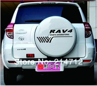 Reflective Car stickers RAV4 Sports Spare Tire Wheel Decal
