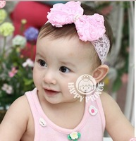 10pcs new baby girl headband hairband boutique accessories, Baby hair band, big bowknot headwear, Free Shipping