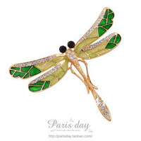 High-grade Austrian crystal dragonfly brooch High Qualit Crystal Jewelry Pin Brooch FB11-03 Free shipping