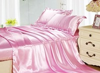 Comfortable 100% Bamboo Bedding Set  Dyed Plain Queen Size all will be free shipping