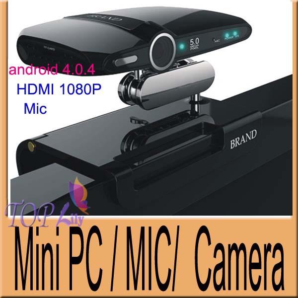2013 New EU2000 5.0MP and Mic Android TV Box camera HDMI RAM 1GB ROM 8GB  android 4.0.4 skype Google Android TV box Freeshipping