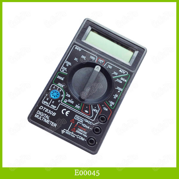 DT830B Digital Multimeter Ammeter Ohm Voltmeter Test Machine Testing Meter 30PCS/LOT Free Shipping(China (Mainland))