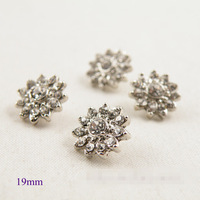 Free Shipping 100pcs 19mm Vintage Rhinestones Button Woman Shirt Sweater Button  Decoration Button Garment Accessories