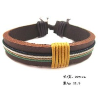 (Min 10$ Mix) retro Korean cow leather bracelets men Fashion personality bangle vintage braided bracelet friend wristband BC0127