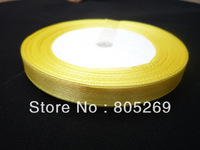 Yellow Wedding craft 25 YARDS 10 MM WIDE SHEER SATIN RIBBON 5PC