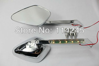 100% Brand New  motorcycle parts Chrome LED Turn Signals Mirrors For Universal all Motorcycles with 8mm&10mm standard thread