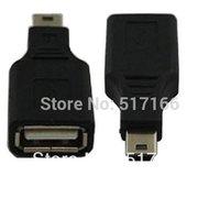 USB Female to Mini USB Male 5 Pin Adapter Converter