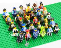30pcs different Minifigure compatible all brand, DIY Building Block doll, Loose Brick accessory fit WOMA Sluban Wange Decool