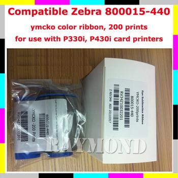 800015-440 Compatible YMCKO color ribbon 200 Prints for P310i,  P330i, P430i card printer