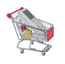 New Mini Alloy Toddler Supermarket Trolley Toy Children Kid shopping cart Pretend Play Toy,9x14x14cm