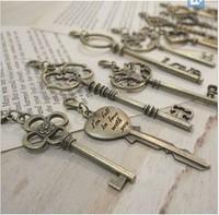 Free shipping retro key bag pendants decoration, packaging card