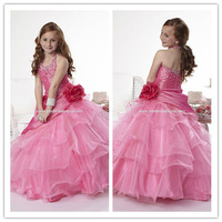 Free Shipping Cheap Crystal Halter Wedding Dress For Girl Kids