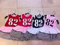 New ArrivelGirl's Fashionable One-Piece-Dress/Baby Girl's Spring Cute Bow Dresses/Children's Short Sleeve Cotton Summer Dress