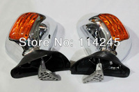 Chrome&Amber Motorcycle Mirrors Turn Signals For Honda Goldwing GL1800 2001-2011 motorcycle parts