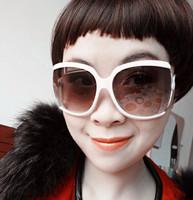 2013 New Women fashion Sunglasses, UV400 protection sunglasses Ms. square Frame  sunglasses (20 pieces/lot) Free shipping