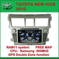 "7"" Car DVD Player GPS Navigation for Toyota Vios 2007-2012 + Free 3D GPS Maps"