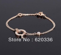 Min order $25(mix order) 18k gold platedFancy letter with chain bangle bracelet /fashion heart bracelet jewelry free shipping