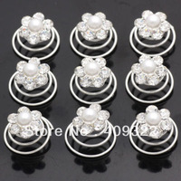 New arrive Hot Sale 30Pcs Wedding Bridal Crystal Pearl Twists Hair Pins